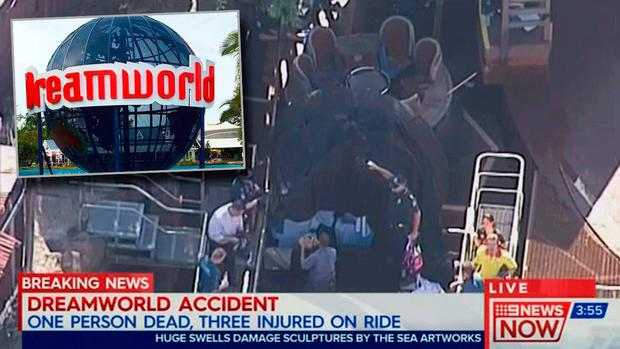 Police and paramedics are on the scene (Picture: 9News.com.au)