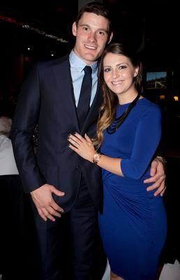 Dublins   Diarmuid Connolly and ciara Chaney at the Winners Banquet in The Gibson Hotel