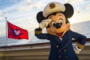 The Disney Magic crew wouldn't be complete without Captain Mickey, who greet guests onboard the ship. (Matt Stroshane, photographer)