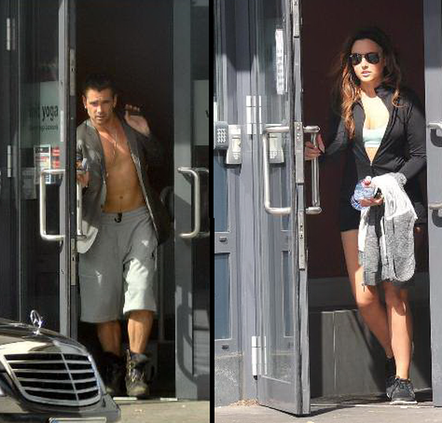 Nadia was spotted leaving the same yoga school in Ringsend which is frequented by Hollywood heartthrob Colin Farrell.