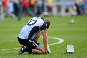 Conal Keaney reacts after Dublin's defeat to Cork in the 2013 All-Ireland hurling semi-final. Oliver McVeigh / SPORTSFILE