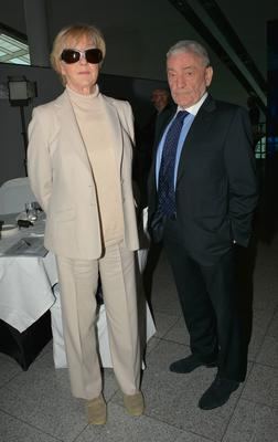 Marian Finucane and John Clarke earlier this year