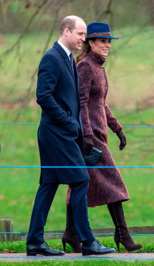 The Duke and Duchess of Cambridge arrive to attend a morning church service at St Mary Magdalene Church in Sandringham, Norfolk