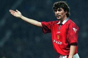 Roy Keane during his Manchester United days