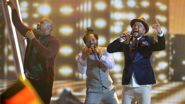 Guy Sebastian representing Australia performs the song 'Tonight Again' during the final of the Eurovision Song Contest in Austria's capital Vienna, Saturday, May 23, 2015. (AP Photo/Kerstin Joensson)