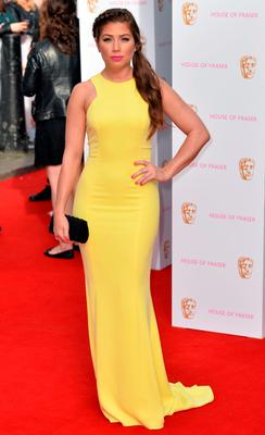 Nikki Sanderson arrives for the House of Fraser British Academy of Television Awards at the Theatre Royal, Drury Lane in London. PRESS ASSOCIATION Photo. Picture date: Sunday May 10, 2015. See PA story SHOWBIZ Bafta. Photo credit should read: Hannah McKay/PA Wire