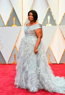 "Nominee for Best Supporting Actress ""Hidden Figures"" Octavia Spencer arrives on the red carpet for the 89th Oscars on February 26, 2017 in Hollywood, California.  / AFP PHOTO / VALERIE MACONVALERIE MACON/AFP/Getty Images"