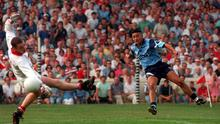Jason Sherlock scored his first championship goal against Laois in the 1995 Leinster football semi-final. Picture Credit: David Maher SPORTSFILE.