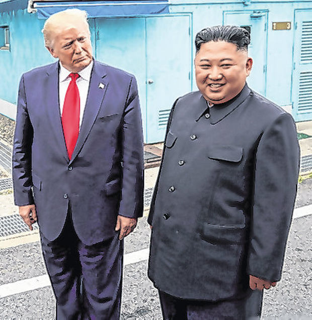 Trump and Kim back in June. Photo: Kevin Lamarque/Reuters