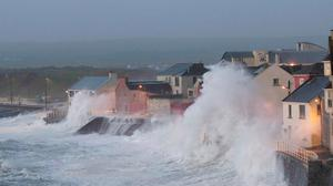 The new reality: Storm Eleanor batters Lahinch in Co Clare at the beginning of the year