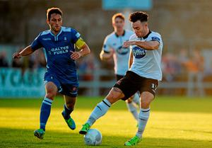 Dundalk's Richie Towell in action against Shane Duggan