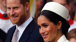 Together again: Prince Harry and his wife Meghan Markle. Photo: AP