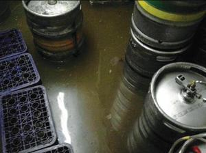 The sewage-covered cellar of Quinns pub