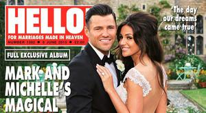 Undated handout photo issued by Hello!magazine of the front cover of this week's edition showing the wedding of Michelle Keegan and Mark Wright