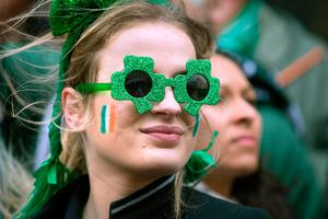 Lea Carlet from Toulouse watches the spectacle in Dame Street during the St Patrick's Day parade in Dublin. Photo: Tony Gavin 17/3/2017
