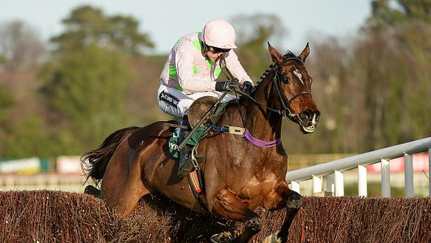 Dublin , Ireland - 27 December 2016; Douvan, with Ruby Walsh up, jumps the last on their way to winning the Paddy Power Cashcard Steeplechase during day two of the Leopardstown Christmas Festival in Leopardstown, Dublin. (Photo By Seb Daly/Sportsfile via Getty Images)