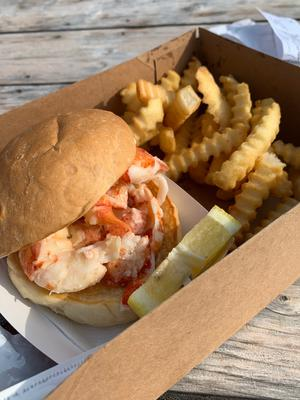 Lobster roll at the Clam Shack in Kennebunkport, Maine. Picture: Caitlin McBride