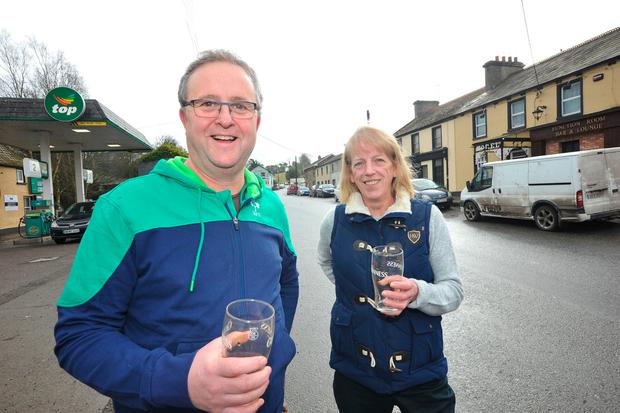 Publicans Dermot Muldoon and Pauline Fay will be ignoring the new laws this Good Friday. Photo: Seamus Farrelly