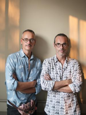 Spec appeal: Rolf and Viktor wearing glasses from their new Vision range. Photo: Alexander Sporre