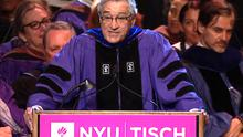 In this screen grab from video; Actor Robert De Niro speaks during the New York University Tisch School for the Arts graduation Friday, May 22, 2015, in New York. (NYU)