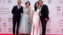 John Vaughan Lawlor, Charlie Murphy, Mary Muray and Peter Coonan pictured on the red carpet at the IFTA Awards at the Mansion House in Dublin. Picture: Arthur Carron