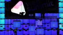 Final preparations take place on the main stage in Dublin's RDS ahead of the Web Summit 2014. Photo: Brian Lawless/PA Wire