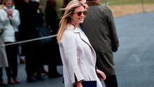 Ivanka Trump walks to Marine One on the South Lawn of the White House February 10, 2017 in Washington, DC. Photo: Getty
