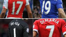 Some of the most popular shirt names in the Premier League