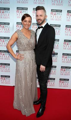 Sinead and Connor Desmond on the Red Carpet at The Peter Mark VIP Style Awards 2015 at The Marker Hotel,Dublin. Pictures Brian McEvoy