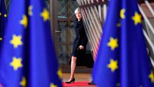 Brexit on the horizon: Britain's Prime Minister Theresa May arrives to attend the European Union summit in Brussels last week. Photo: AFP/Getty