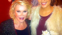 Holly with Joan Rivers and her 21st birthday in Dublin in 2012.