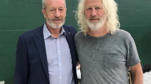 Fine Gael MEP candidate Sean Kelly (left) and Independents 4 Change candidate Mick Wallace (Michelle Devane/PA)