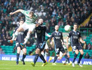 Celtic's Anthony Stokes scores his side's first goal during the Scottish Premiership match at Celtic Park, Glasgow. PRESS ASSOCIATION Photo. Picture date: Saturday November 22, 2014. See PA story SOCCER Celtic. Photo credit should read Jeff Holmes/PA Wire. EDITORIAL USE ONLY