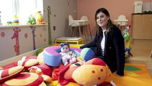 Cold reality: Crèche owner Theresa Murphy, with her daughter Esmee, says her business has effectively 'disappeared overnight'. Photo: Andrew Downes XPSOURE