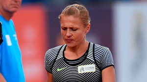 Russia Yulia Stepanova walking on the track as she was injured during the 800m at the European Championships. Photo: Getty