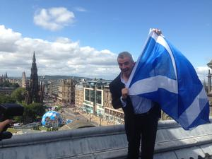 Michael O'Leary in Scotland