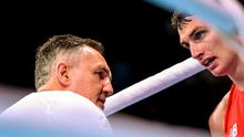 Sean McComb, Ireland, with coach Billy Walsh d