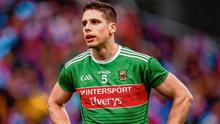 Lee Keegan can't hide his disappointment after Mayo's defeat to Dublin in last year's All-Ireland semi-final at Croke Park. Photo: Stephen McCarthy/Sportsfile