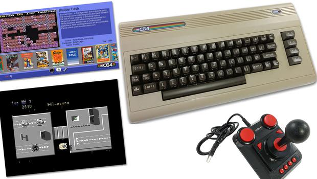 The C64 comes bundled with a joystick and 64 games including the classic Uridium (bottom left)