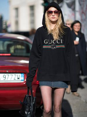 Elsa Hosk seen during Milan Fashion Week Fall/Winter 2017/18 on February 25, 2017 in Milan, Italy.  (Photo by Timur Emek/Getty Images)