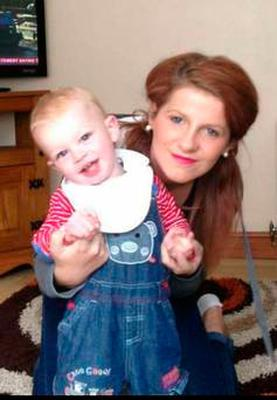 Joanne Bowman as a baby with mum Christine