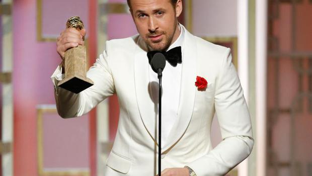 Ryan Gosling gave an endearing speech thanking his wife Eva Mendes at the Golden Globes.
