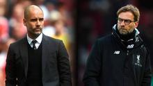 Pep Guardiola (left) and Jurgen Klopp (right).