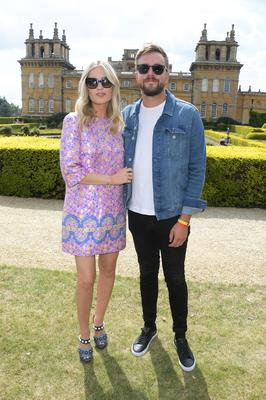 Laura Whitmore (L) and boyfriend Iain Stirling in August 2019