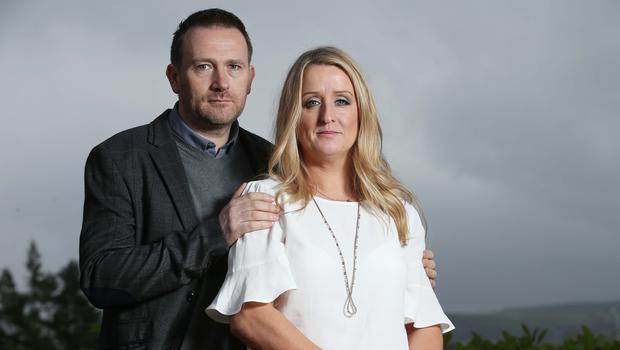 Mark Molloy with his wife Roisin. The construction company boss has stood down as a patient representative on the HSE board, saying the Department of Health's decision to cut funding for the national maternity strategy was the 'last straw'. Photo: Robbie Reynolds
