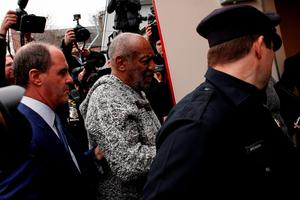US comedian Bill Cosby arrives December 30, 2015 to the Court House in Elkins Park, Pennsylvania