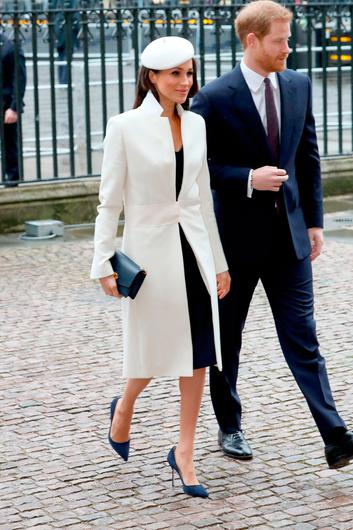 (L-R) Meghan Markle and Prince Harry attend the 2018 Commonwealth Day service at Westminster Abbey on March 12, 2018 in London, England.  (Photo by Chris Jackson/Chris Jackson/Getty Images)