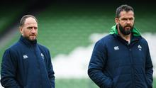 Andy Farrell and his coaching staff are facing a preparation headache after Ireland vs Italy was cancelled due to the coronavirus. Photo by Ramsey Cardy/Sportsfile