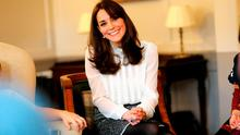 Catherine, Duchess of Cambridge talks to children from the 'Real Truth' video blog that features on the Huffington Post website at Kensington Palace on February 17, 2016 in London, England.