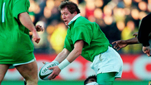 Neil Francis in action against Fiji in November 1995. Photo: SPORTSFILE